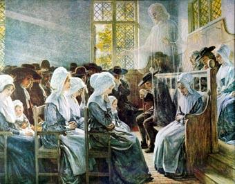 """«Присутствие среди нас», Дж.Дойл Пенроуз, 1916. Иллюстрация к книге """"Навстречу Святому Духу""""."""