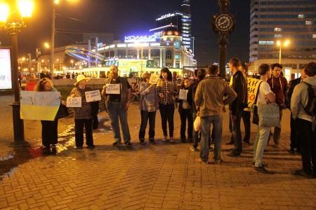 Антивоенный пикет в Казани