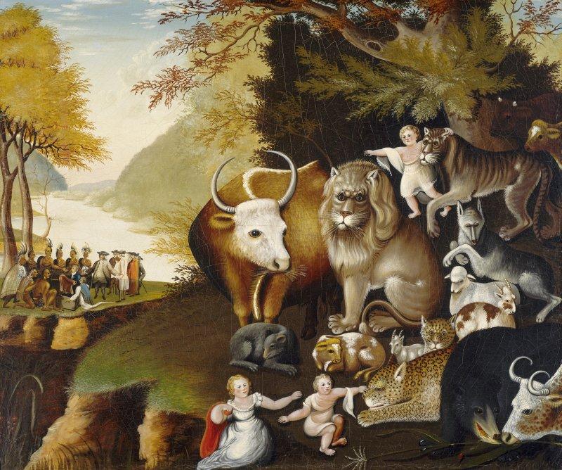 Картина «Мирное царство», Элиас Хикс