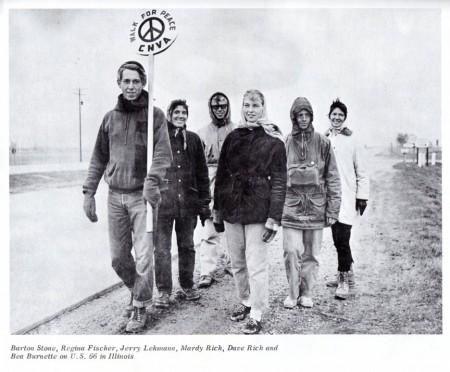 Поход мира Сан-Франциско - Москва. Иллинойс (США), 1960