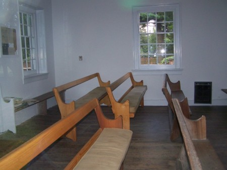 Interior of Appoquinimink Friends Meeting House