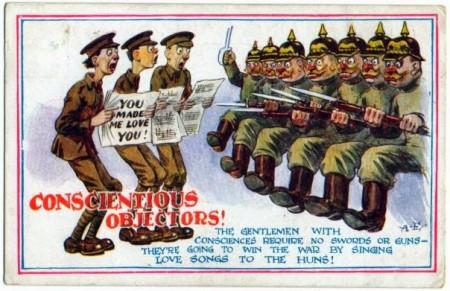 Антипацифистская карикатура