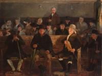 «Иеритское месячное собрание». Сэмюэл Лукас. Ок. 1840 года. Фото: quaker.org.uk