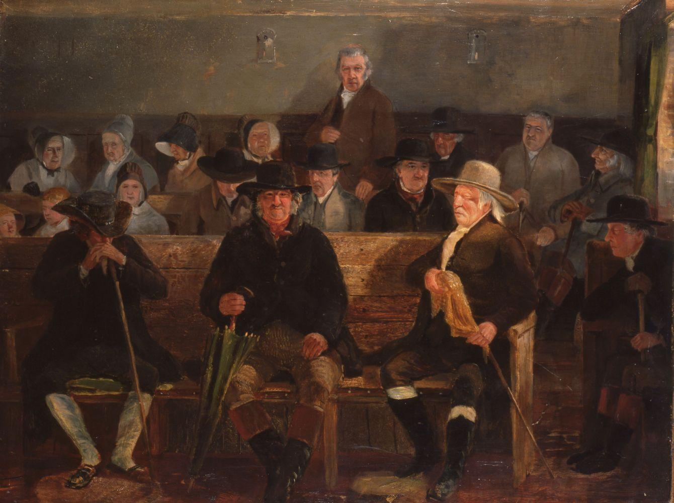 «Иеритское месячное собрание». Сэмюэл Лукас. Ок. 1840