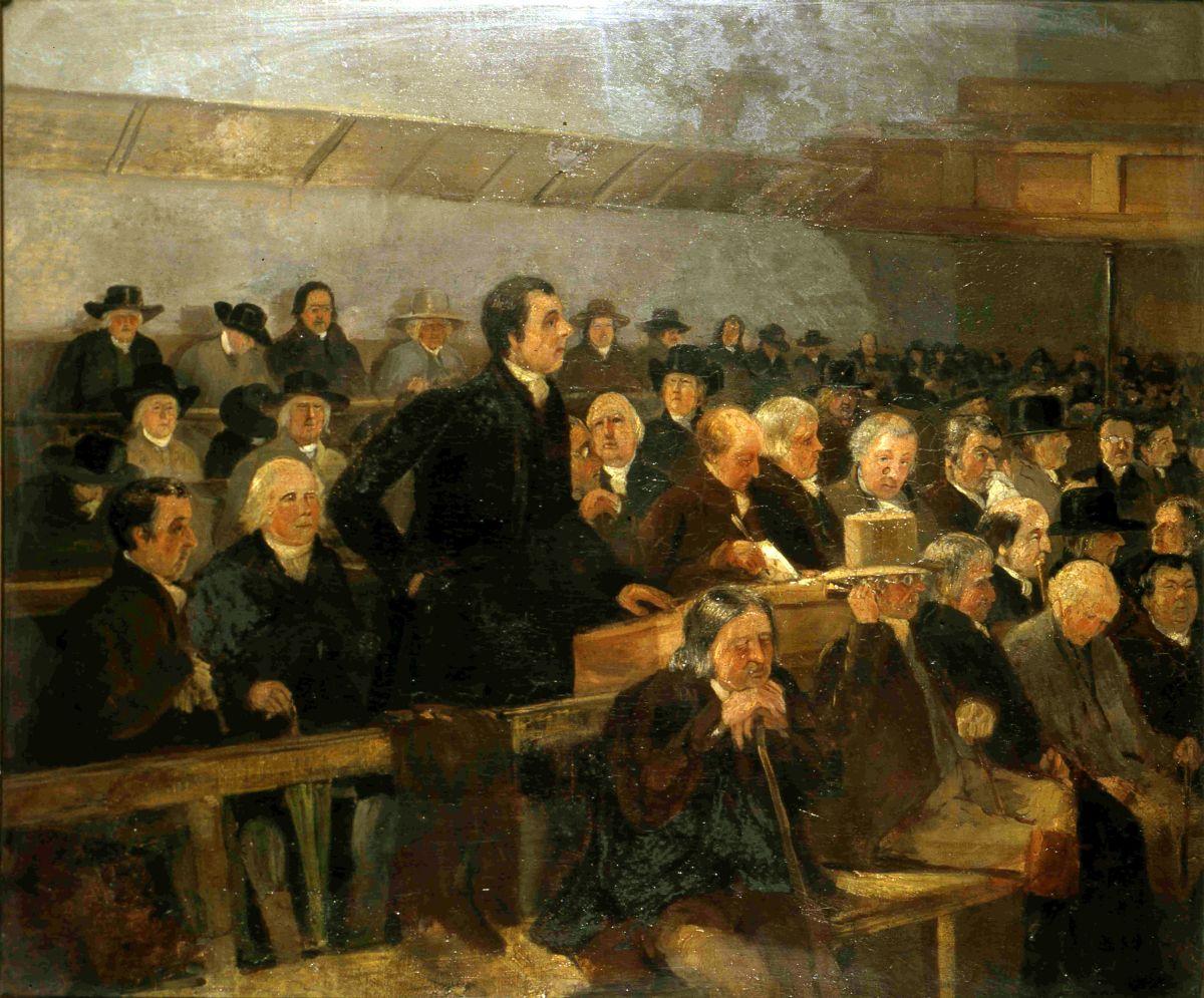 «Лондонское годовое собрание». Сэмюэл Лукас. 1840