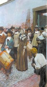 «Мэри Дайер препровождают в Скаффорд». Говард Пайл. 1906 год