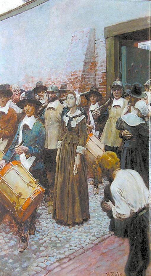«Мэри Дайер препровождают в Скаффорд». Говард Пайл. 1906