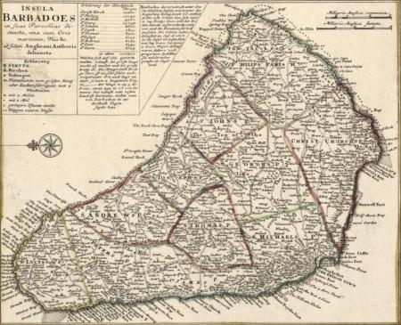"""Барбадос. Иллюстрация к """"Письму губернатору Барбадоса""""."""