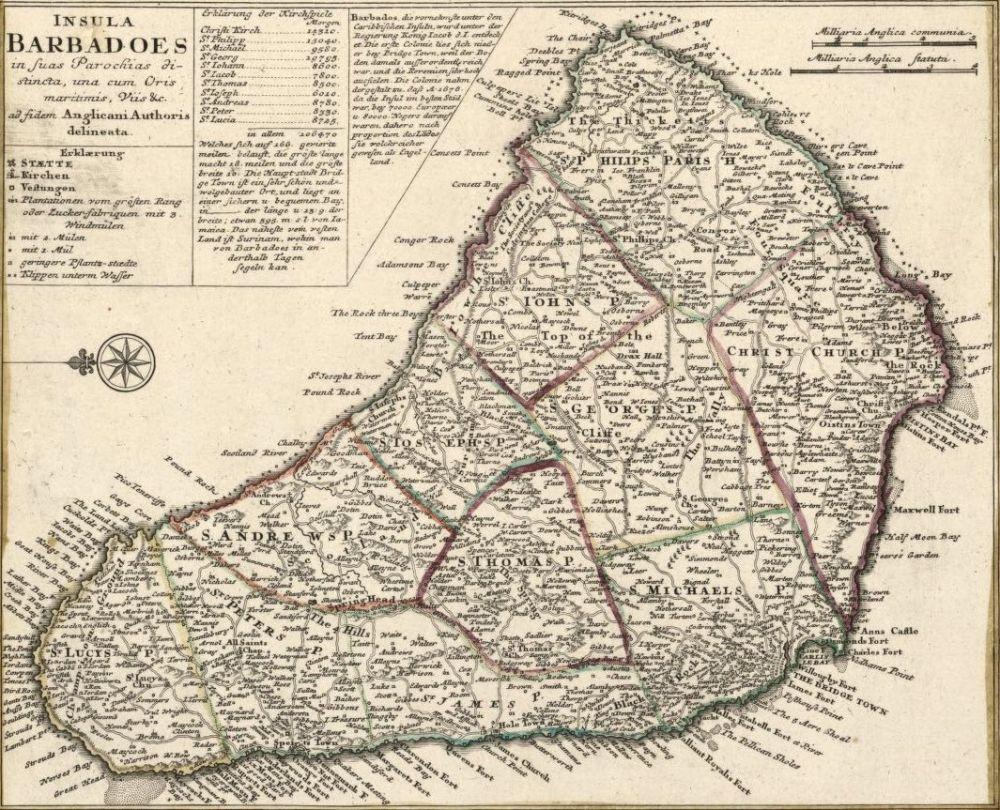 Письмо губернатору Барбадоса, 1671 год