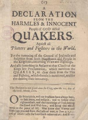 Декларация безвредных и невинных людей Божьих, называемых квакерами