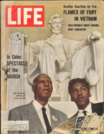 Обложка журнала Life, сентябрь 1963 года. Байард Растин