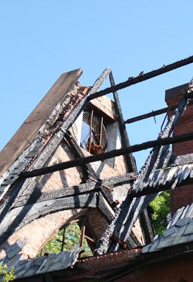 сгоревший дом собраний