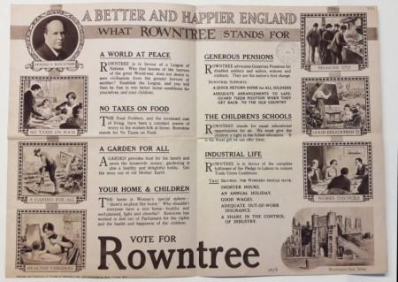 Предвыборный постер А.Раунтри. 1918 год. совесть нации