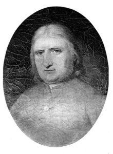Предполагаемый портрет Джорджа фокса. Из коллекции Свортсморского колледжа