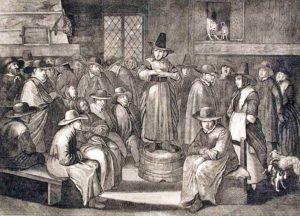 Квакерская проповедница. Карикатура XVII века. Отчет о Странствованиях ...