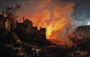Колбрукдейл ночью. Филип де Лотерберг. 1801 г.