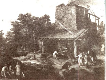 Железоплавильная печь начала XVII века