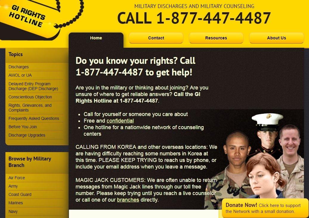 Горячая линия по правам военнослужащих