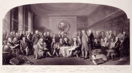Британские жужи науки, 1807-1808 гг. . Гравюра 1862 г.