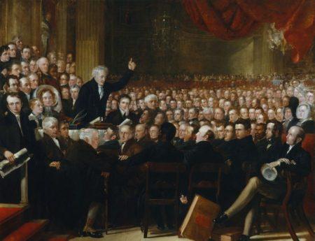 Съезд антирабовладельческого общества в 1840 г. Художник Бенджамин Хейдон (1841 г.). Картина находится в лондонской Национальной картинной галерее.