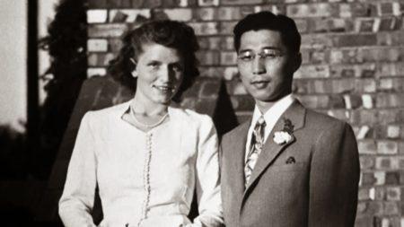 Гордон Хирабаяши и его жена Эстер. Свадебная фотография