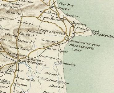 Карта, на которой изображены Наффертон, Карнаби и Бридлингтон