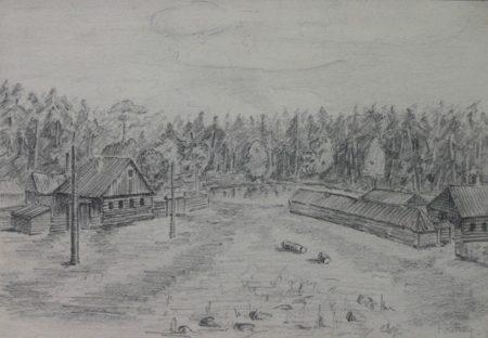 Рисунок Ричарда Филби, сотрудника квакерской миссии помощи в Бузулуке. Бандиты