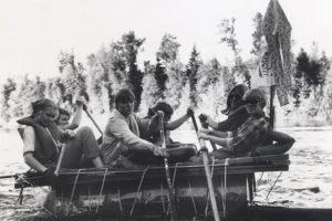 Соревнования по рафтингу: студенческая традиция с 1969 по 1980-е годы.