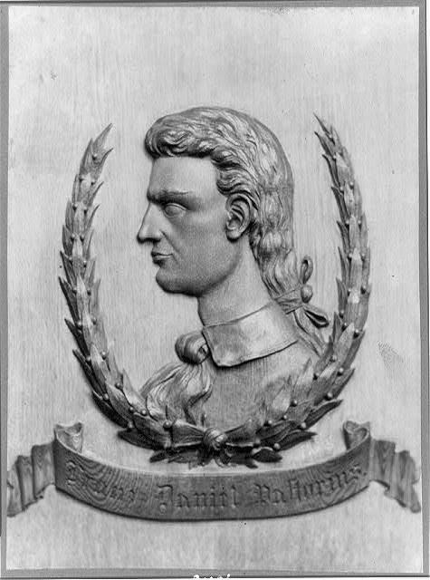 Барельефный портрет Франца Даниэля Пасториуса, ок. 1897. Из Библиотеки Конгресса.