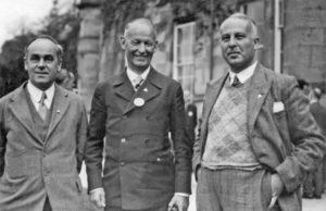 Джек Кэтчпул (слева) и основатель первого хостела Рихард Ширманн (в центре). Фото: АМХ, 1934 г.