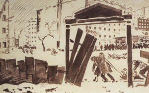 """Петроград в 1919 году. Кустодиев. К статье """"По делам вашим"""""""