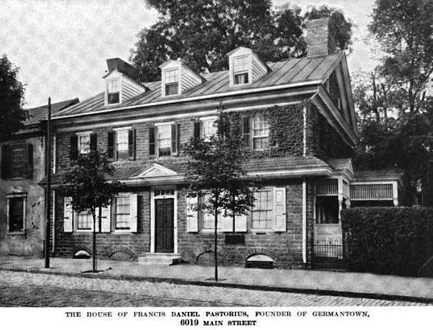 Дом Франца Даниэля Пасториуса в Джермантауне (примерно в 1919 год)