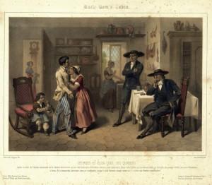 Семья бежавших рабов, нашедших приют у квакеров