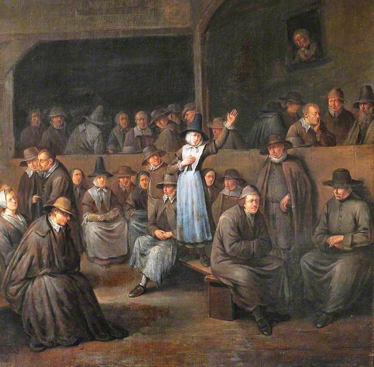 «Квакерское собрание». Эгберт ван Хемскерк (старший). II половина XVII века