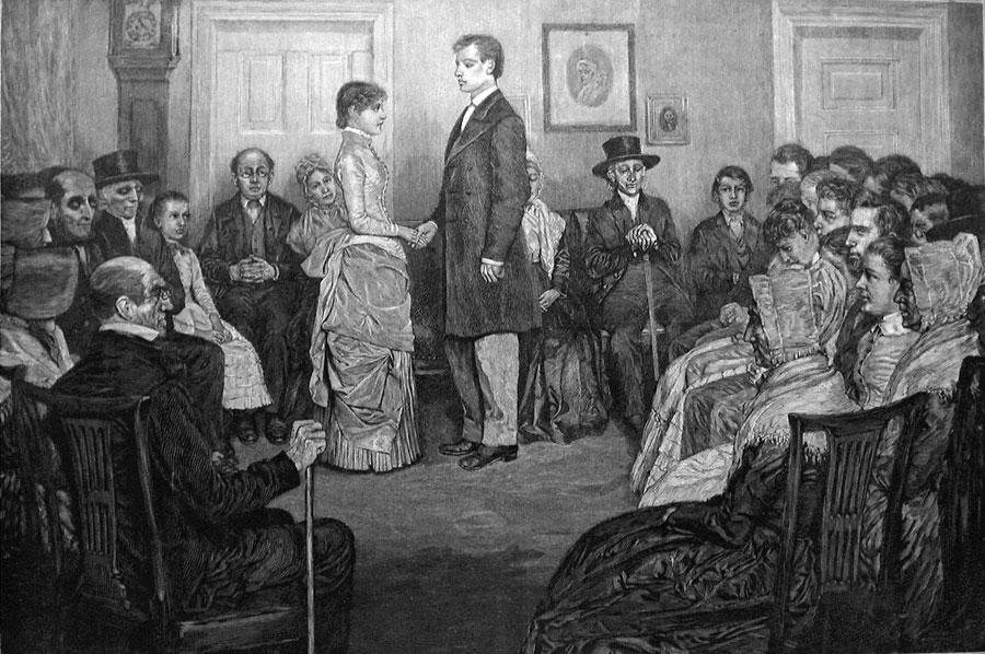 «Квакерская свадьба». Говард Пайл. 1885