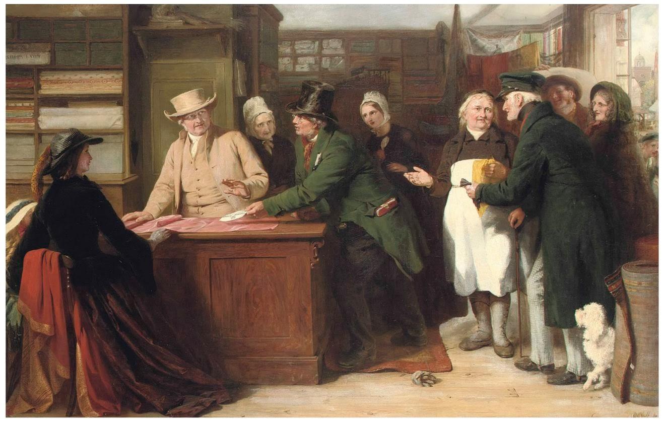«Квакер и мытарь». Джордж Бернард О'Нилл. 1861