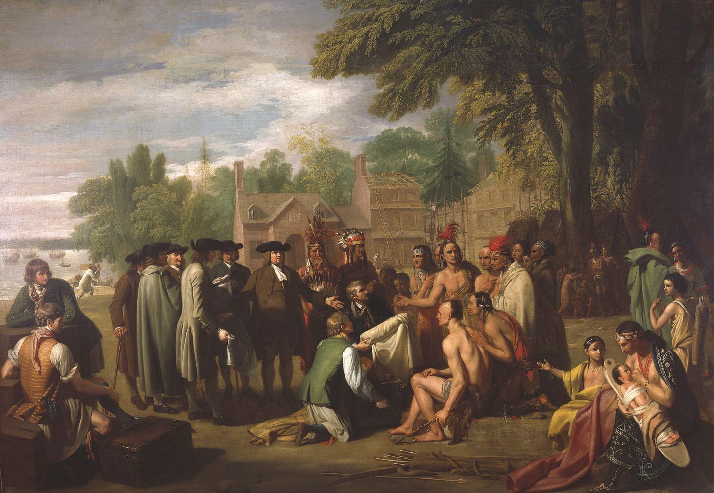 «Договор Пенна с индейцами». Бенджамин Уэст. 1878