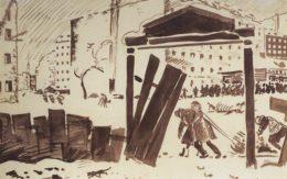Петроград в 1919 году. Кустодиев