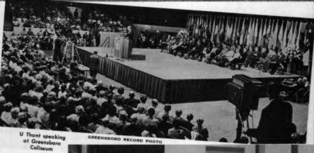 У Тан, Конференция квакеров в Гринсборо, 1967, свидетельство мира