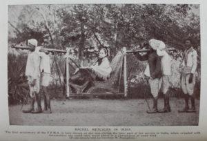 Рэйчел Меткалф в инвалидном кресле. Квакерская ассоциация зарубежных миссий