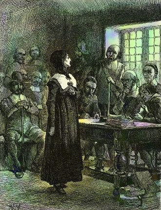 Энн Хатчинсон пред судом
