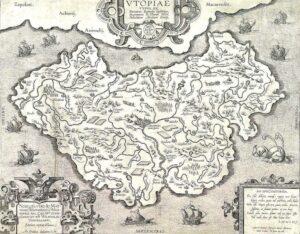 Карта Утопии. Ортелиус, ок. 1595 г.